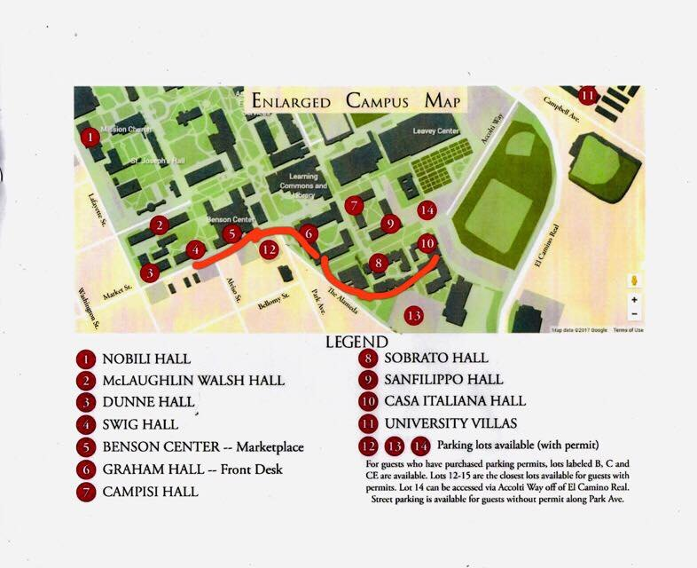 Walsh Campus Map.San Francisco Icda Us 2019 Conference International Catholic